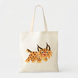 Cute Facetious Cartoon Bobcat Bag