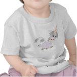 Cute Facetious Cartoon Unicorn Baby T-Shirt