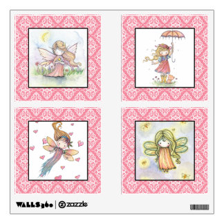 Cute Fairies and Girls Nursery Girls Wall Decals