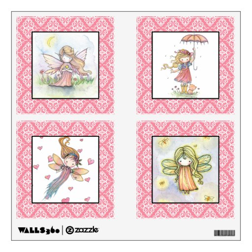 Cute Fairies and Girls Nursery Girls Wall Decals