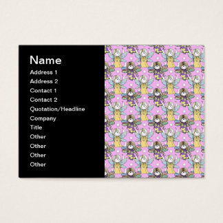 Cute Fairies and Stars and Moons Pattern Business Card