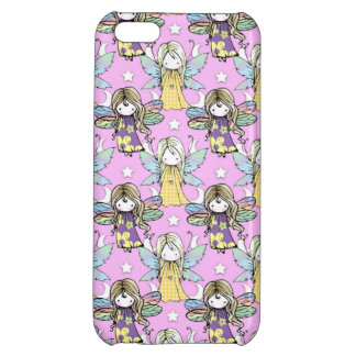 Cute Fairies and Stars and Moons Pattern iPhone 5C Cover