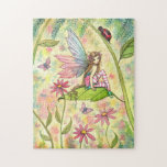 Cute Fairy and Ladybug Fantasy Art Jigsaw Puzzles