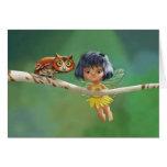 Cute Fairy And Owl Cards