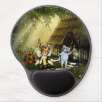 Cute Fairy And White Mouse Gel Mouse Pad