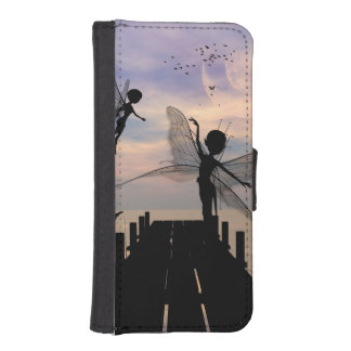 Cute fairy dancing on a jetty wallet phone case for iPhone SE/5/5s