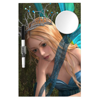 Cute Fairy Dry Erase Board With Mirror