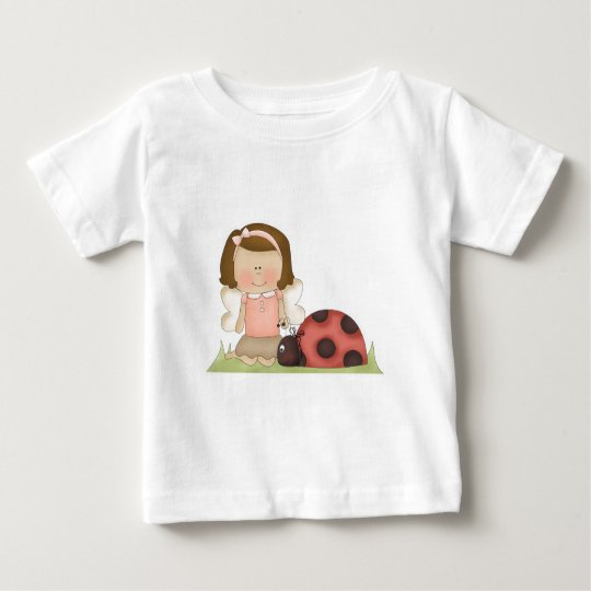 Cute Fairy Girl and Ladybug Baby T-Shirt