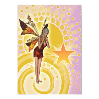Cute fairy girls birthday party card