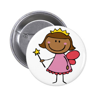 Cute Fairy in a Pink Dress Buttons