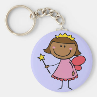 Cute Fairy in a Pink Dress Keychain