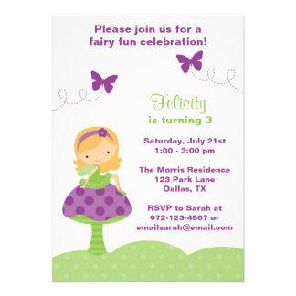 Cute Fairy Invitations Personalized Invite