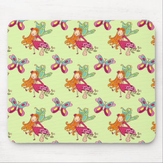 Cute Fairy, Mushroom, & Butterfly Mouse Pad