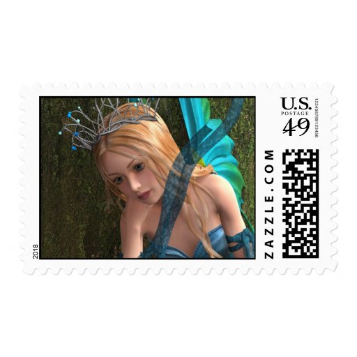 Cute Fairy Postage Stamp