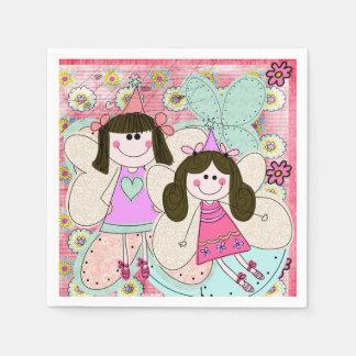 Cute Fairy Princess Birthday Paper Napkins