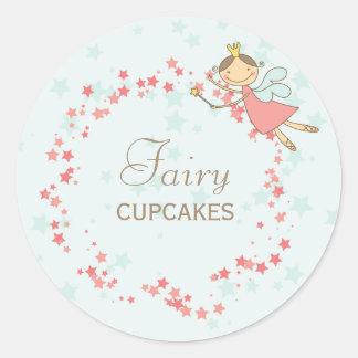 Cute Fairy Princess Birthday Party Decor Gift Tag Classic Round Sticker