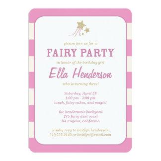 Cute Fairy Princess Birthday Party Invitations