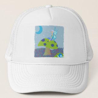 Cute Fairy Princess on Mushroom w/ Snail - Blue Trucker Hat