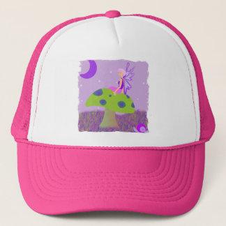 Cute Fairy Princess on Mushroom w/ Snail - Purple Trucker Hat