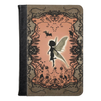 Cute fairy silhouette with glowing shine kindle case
