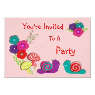 Cute Fairy Tale Whimsical Garden Flowers Card