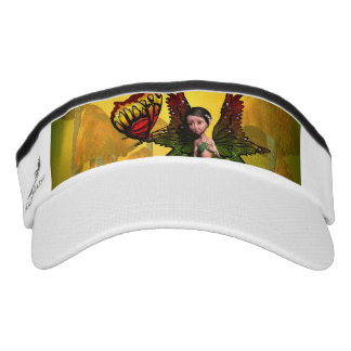 Cute fairy with butterfly headsweats visor