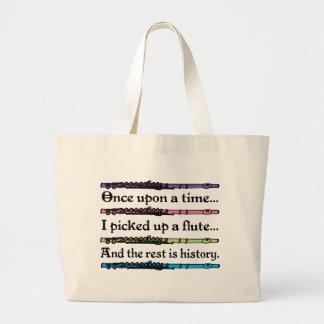 Cute Fairytale Flute Music Totebag Gift Large Tote Bag
