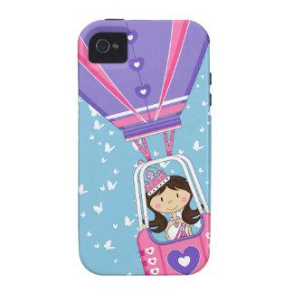 Cute Fairytale Princess in Hot Air Ballon iPhone 4/4S Case