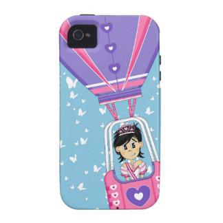 Cute Fairytale Princess in Hot Air Ballon iPhone 4 Cover
