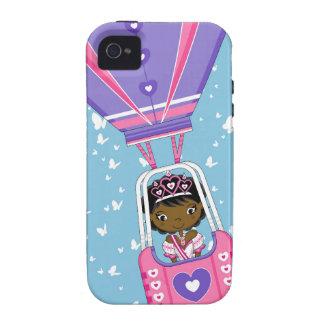 Cute Fairytale Princess in Hot Air Ballon iPhone 4/4S Cases