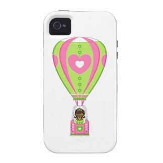 Cute Fairytale Princess in Hot Air Balloon Case-Mate iPhone 4 Case