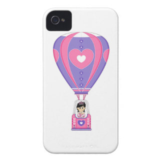 Cute Fairytale Princess in Hot Air Balloon Case-Mate iPhone 4 Cases