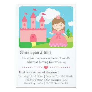Cute Fairytale Princess Theme, Girl Birthday Party Card
