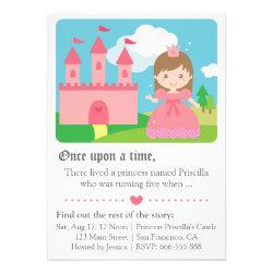 Girl birthday invitations my invitation ideas cute fairytale princess theme girl birthday party personalized invites filmwisefo