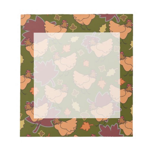 Cute Fall Chicken Pattern Memo Notepads