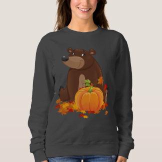 Cute Fall Seasonal bear with pumpkin Sweatshirt