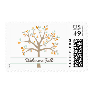 Cute fall tree baby shower / bridal shower stamp