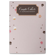 Cute Falling Cupcakes Pattern Bakery Notes