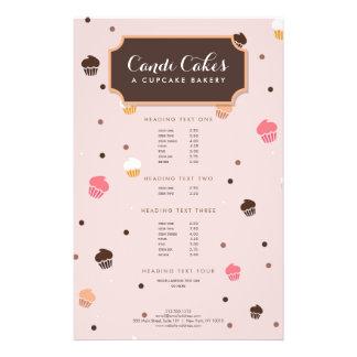 Cute Falling Cupcakes Pattern II Bakery Flyer