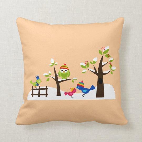 Cute Family Birds Pillow
