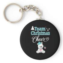 Cute Family Christmas Bear Team Christmas Cheer Keychain