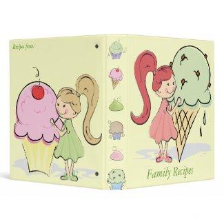 Cute Family Recipes Binder binder