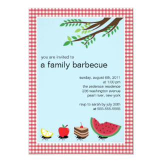 CUTE Family Summer BBQ Party Invitation