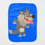 Cute Famished Cartoon Wolf Burp Cloth Baby Burp Cloths