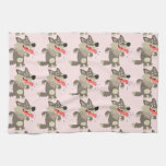 Cute Famished Cartoon Wolf Kitchen Towel