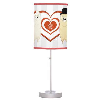 Cute Fancy Alpaca Couple Table Lamp