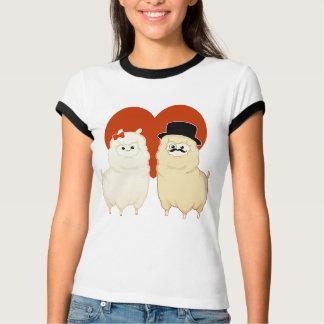 Cute Fancy Alpaca Couple T-Shirt
