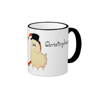 Cute Fancy Alpaca Couple with customizable names Coffee Mugs