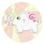 Cute Fancy Indian Elephant Sticker