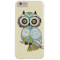 Cute Fancy Retro Groovy Owl Custom Barely There iPhone 6 Plus Case